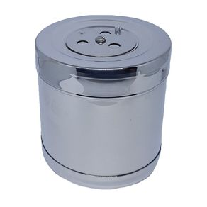 Tambor de Inox Para Gaze e Algodão - Fami 10 X 10CM  / Capacidade: 780 ML