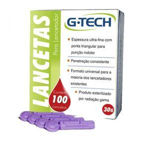 Lanceta para Exame de Glicemia Capilar com 100 unidades - G-TECH