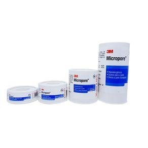 Fita Micropore Branca - 3M 12,5 MM X 10 METROS