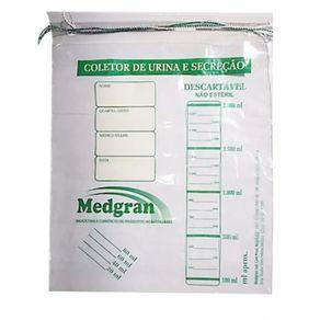 Coletor de Urina 2000 ml tipo Sacola com Cordão - Medgran
