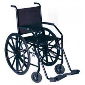 Cadeira de Rodas Nylon Modelo 1009 - Jaguaribe 1009 - NYLON CINZA / PNEUS TRASEIRO MACISO