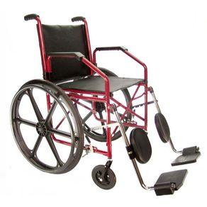 Cadeira de Rodas Jaguaribe 1012 - Jaguaribe 1012 COURVIM VINHO / PNEUS TRASEIRO MACISO