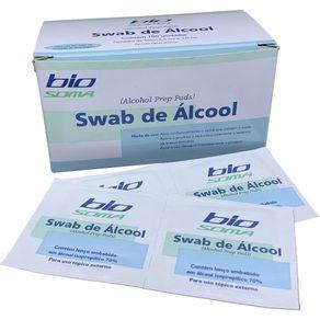 Álcool Swab 70% (Álcool Isopropílico para assepsia) 100 unidades - Sterilance