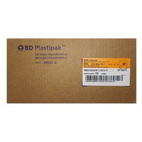 Seringa Descartável (Veterinária) 3ml Luer Lock Com Agulha 25x7 150 unidades - BD